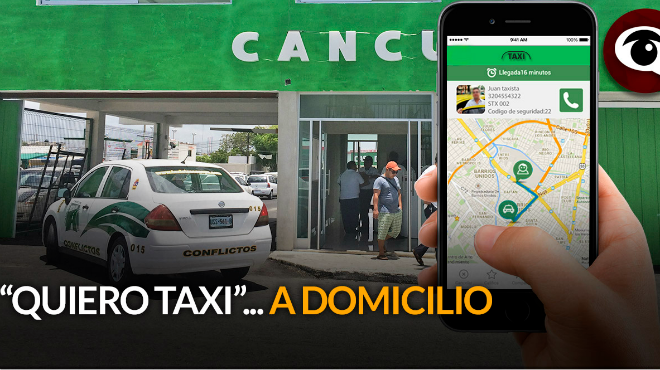 how to call taxi in cancun